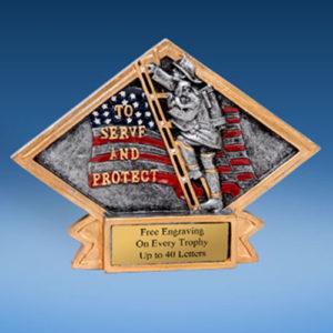 Fireman Diamond Resin Plate