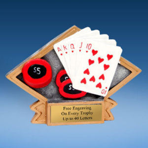 Poker Diamond Resin Plate