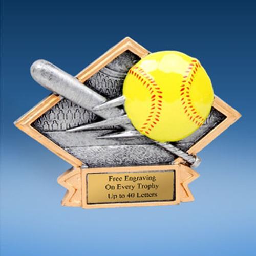 Softball Diamond Resin Plate