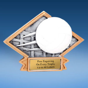 Volleyball Diamond Resin Plate