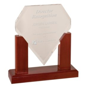 Diamond Mahogany Acrylic Award