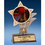 Basketball 2 Mylar Sport Star Resin