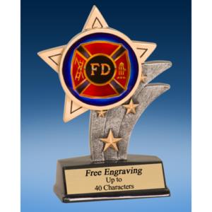 Fire Department Mylar Sport Star Resin
