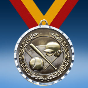 Baseball Diamond Cut Medal-0