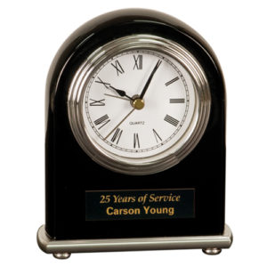 Black Arched Desk Clock