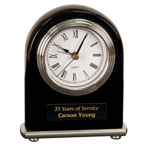 Black Arched Desk Clock