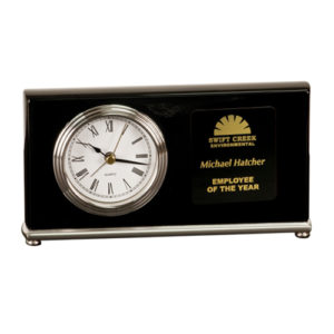 Black Horizontal Desk Clock