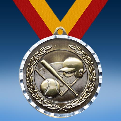 Softball Diamond Cut Medal-0