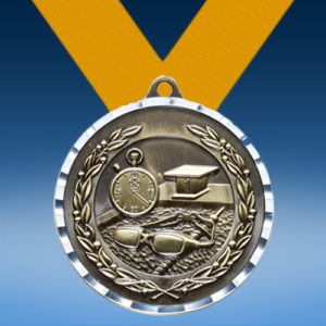 Swimming Diamond Cut Medal-0