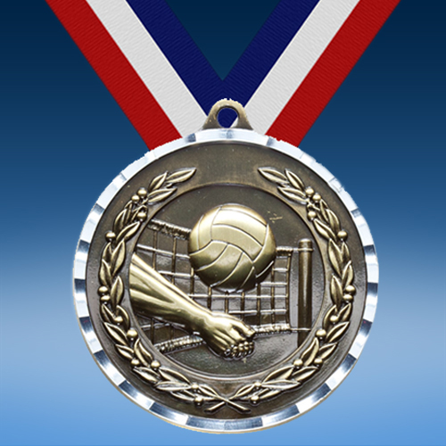 Volleyball Diamond Cut Medal-0