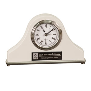 White Mantel Desk Clock