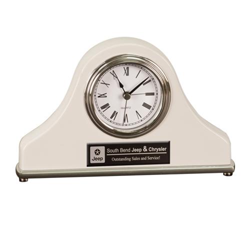 White Mantel Desk Clock
