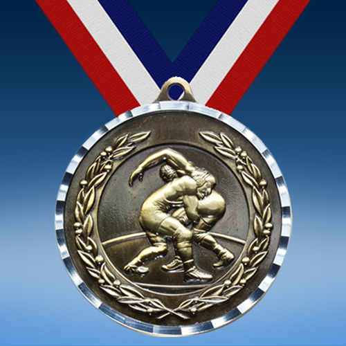 Wrestling Diamond Cut Medal-0
