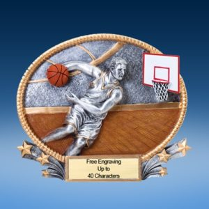 Basketball Male 3D Colored Resin Oval