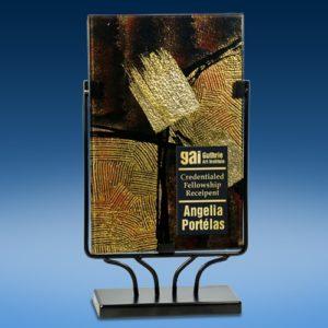 Gold Stroke Art Glass