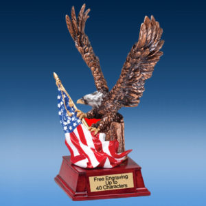 Color Resin Eagle Sculpture