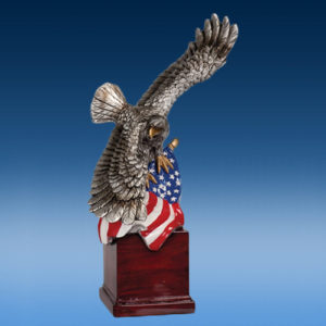Eagle with Flag 10""