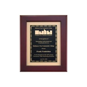 Scallop Rosewood Piano Finish Matted Plaque