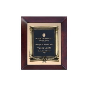 Cast Laurel Matte Plaque