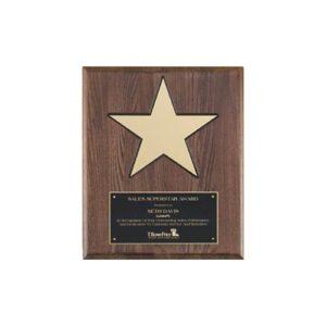 Walnut Star Plaque