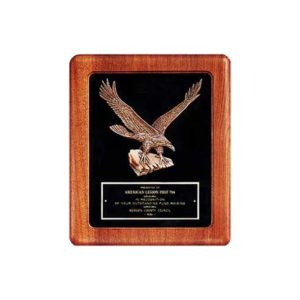 Black Velour Eagle Plaque
