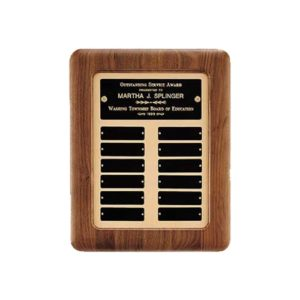 Gold Inlay Perpetual Plaque
