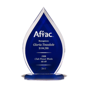 Blue Torch Flame Acrylic Award