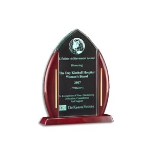 Rosewood Accent Acrylic Award