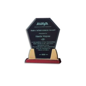 Rosewood Accent Diamond Acrylic Award