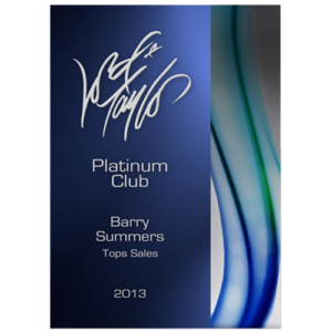 Aqua Series Rectangle Acrylic Award