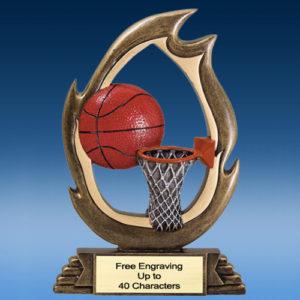 Basketball Flame Resin