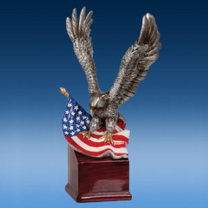 Eagle on Flag 10""