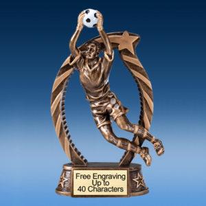 """Soccer Goalie Male Running Star 7.5"""""""