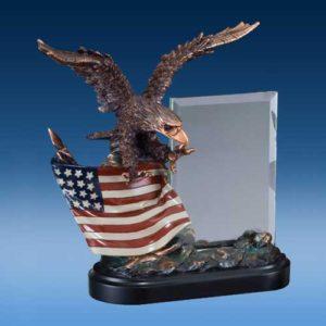 USA Eagle Glass Sculpture-0