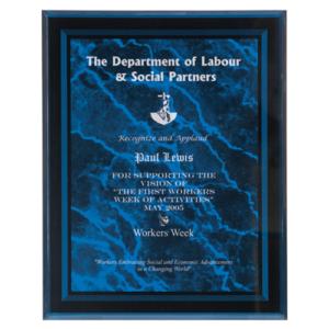 Blue Marble Inspiring Acrylic Plaque