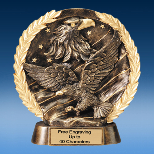 Eagle High Relief Oval Resin