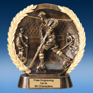 Hockey High Relief Oval Resin