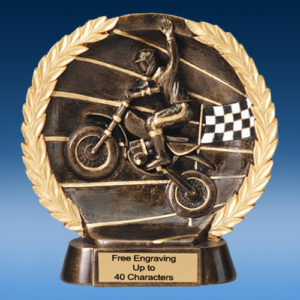 Motocross High Relief Oval Resin