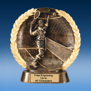 Tennis Female High Relief Oval Resin