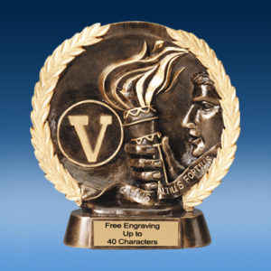 Victory High Relief Oval Resin