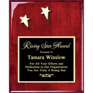 Two Star Rosewood Plaque