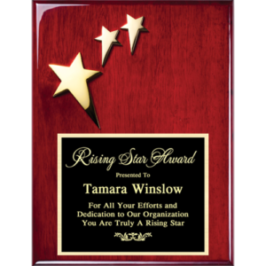 Three Star Rosewood Plaque