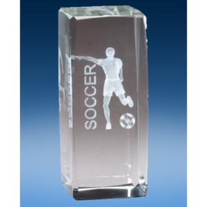 Soccer Male Crystal League Award