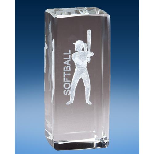 Softball Crystal League Award