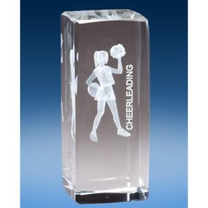 Cheerleading Crystal League Award