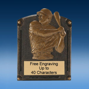 Baseball Bronzed Legend Resin