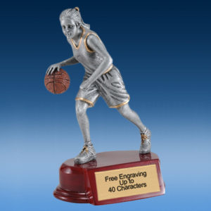 Basketball Female Silver/Gold Tone Resin