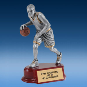 Basketball Male Silver/Gold Tone Resin