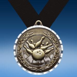 Bowling Diamond Cut Medal-0