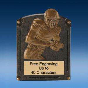 Football Bronzed Legend Resin